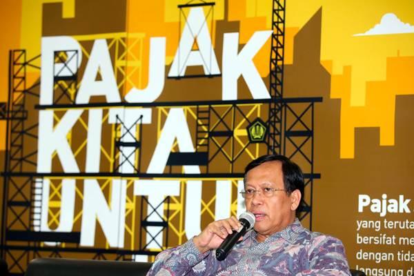 Direktur Jenderal Pajak (DJP) Kementerian Keuangan Robert Pakpahan saat acara ngobrol santai di Kantor Pusat Ditjen Pajak, Jakarta, Selasa (10/7/2018). - JIBI/Abdullah Azzam