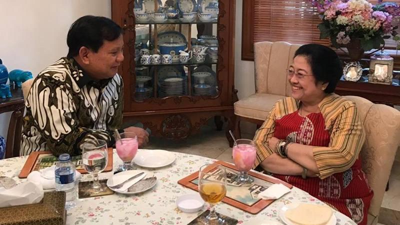 Ketua Umum Gerindra Prabowo Subianto dan Ketua Umum PDIP Megawati Soekarnoputri bertemu di kediaman Megawati di Jalan Teuku Umar Jakarta Pusat, Rabu (24/7/2019). - Istimewa