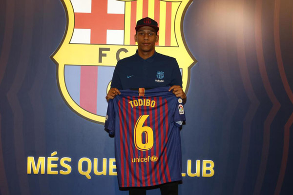 Bek FC Barcelona Jean/Clair Todibo / FCBarcelona.com