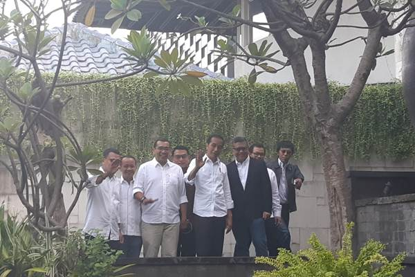 Jokowi saat tiba di lokasi acara pembubaran TKN, Jumat (26/7/2019). - Bisnis/Lalu Rahadian