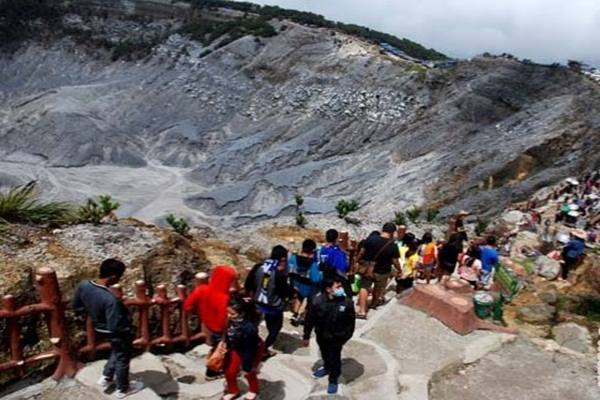 Gunung Tangkuban Parahu, Kec. Lembang, Bandung, Jabar - Antara