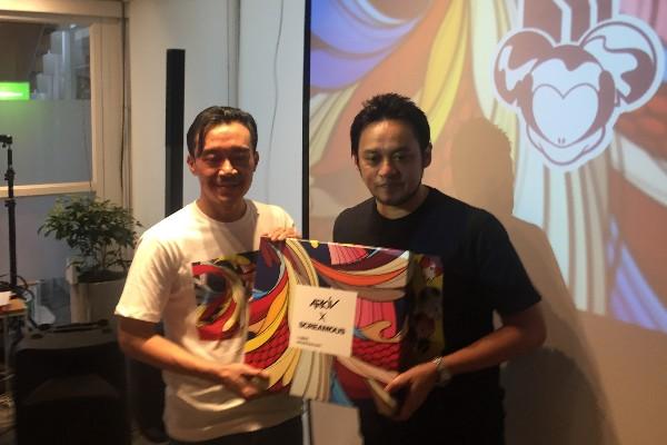 Nino (kiri), Arkiv (kanan) - Bisnis/Dea Andriyawan