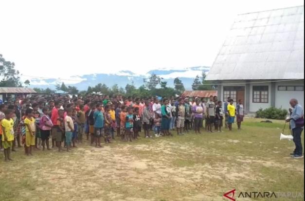 Pengungsi Nduga, Papua. - Antara