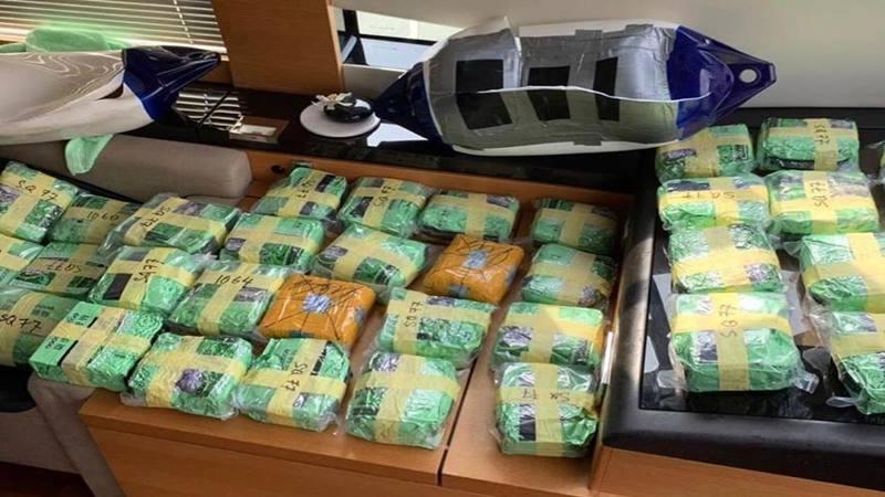 Barang bukti narkoba jenis di sita Direktorat Tindak Pidana Narkoba (Dit Tipidnarkoba) Bareskrim Polri dari penyelundup asal Malaysia - Bisnis/Sholahuddin Al Ayubbi