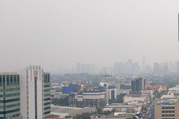 Udara Jakarta pada Selasa (2/7/2019) - Antara/Boyke Watra
