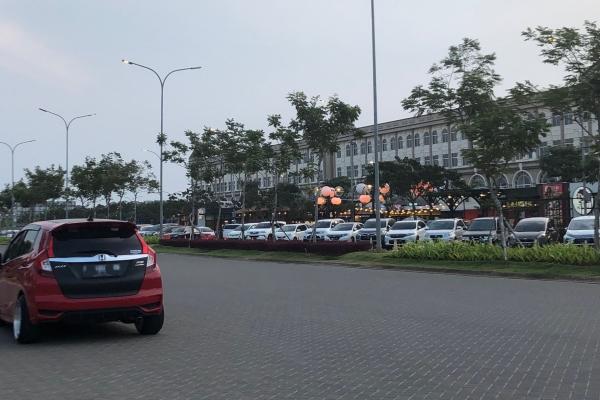 Suasana kawasan Pulau D reklamasi atau Pantai Maju Jakarta Utara, Minggu (7/7/2019) - Bisnis/Akhirul Anwar
