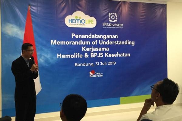 Klinik Hemolife resmi menjalin kerja sama dengan Badan Penyelenggara Jaminan Sosoal (BPJS) Kesehatan. - Bisnis/Dea Andriyawan
