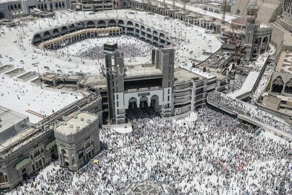 Suasana ibadah haji 2018 di Masjidil Haram, Makkah, Arab Saudi, - Reuters/Zohra Bensemra