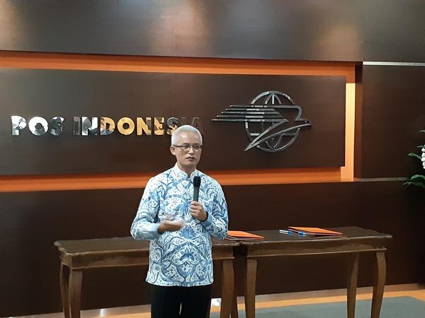 Direktur Utama Pos Indonesia Gilarsi W. Setijono. - Bisnis/Rinaldi M. Azka