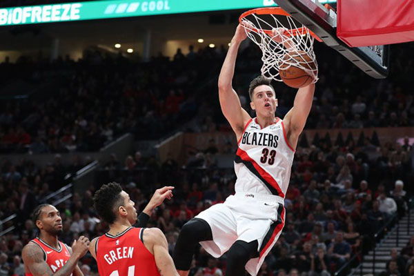 Power forward Portland Trail Blazers Zach Collins - Reuters