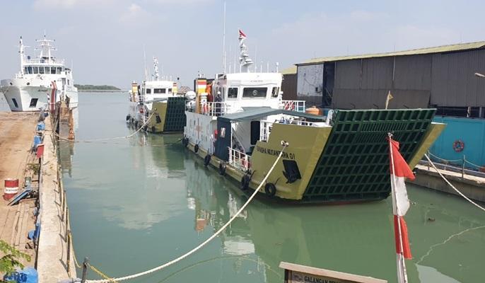 Dua kapal rede Kemenhub. BISNIS
