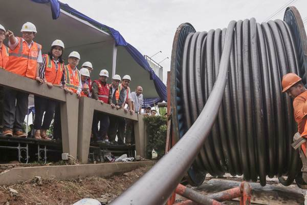 Ilustrasi instalasi kabel listrik. - JIBI/Felix Jody Kinarwan