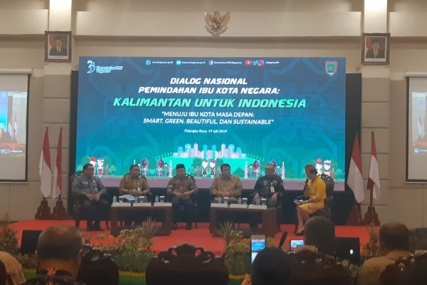 Dialog nasional membahas rencana pemindahan ibu kota ke Kalimantan diselenggarakan di Palangka Raya, Kalimantan Tengah - Bisnis/Lalu Rahadian