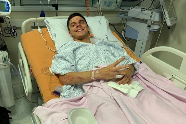 Joan Mir menjalani perawatan usai kecelakaan di Brno - Instagram @joanmir36official