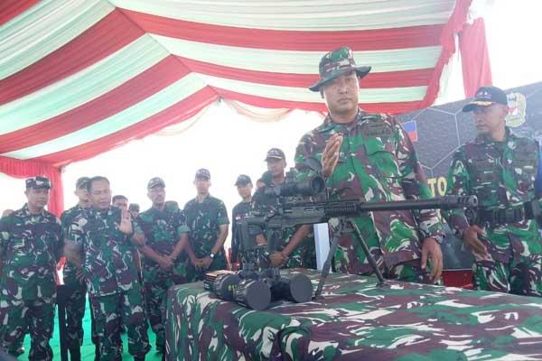 Senapan SPR-3 yang digunakan saat latihan bersama Indomalphi di Tarakan - Bisnis/Eldwin Sangga