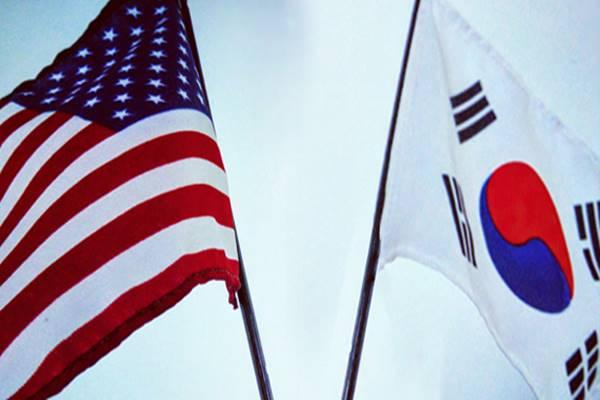 Bendera Amerika Serikat dan Korea Selatan. - Istimewa