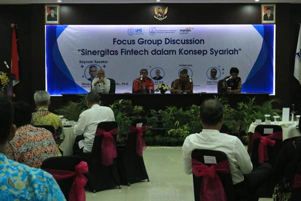 Suasana Focus Group Discussionbertema Sinergitas Fintech dalam Konsep Syariah,Jumat (9/8/2019). - Istimewa/Humas UNS