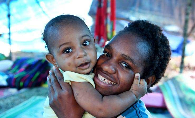 Ilustrasi warga Jayapura, Papua. - Antara/Zabur Karuru