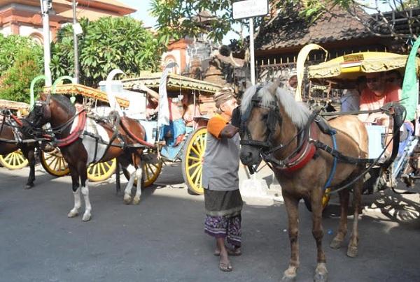 Transportasi dokar tersedia bagi para peminat wisata kota di Denpasar. - Istimewa
