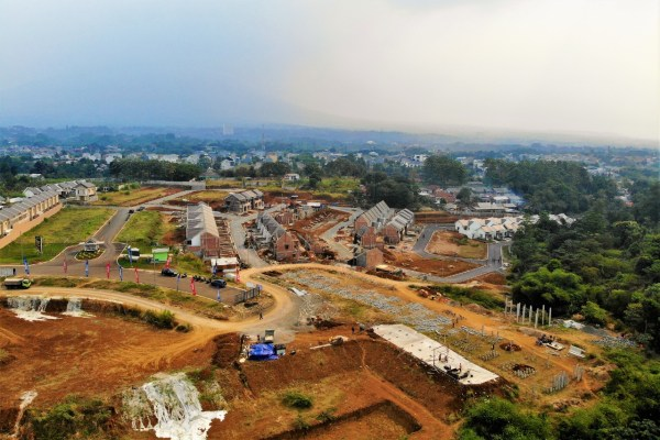 Lokasi pembangunan apartemen Royal Heights dan perumahan Royal Tajur yang dikembangkan oleh PT Tajur Surya Abadi. - Bisnis