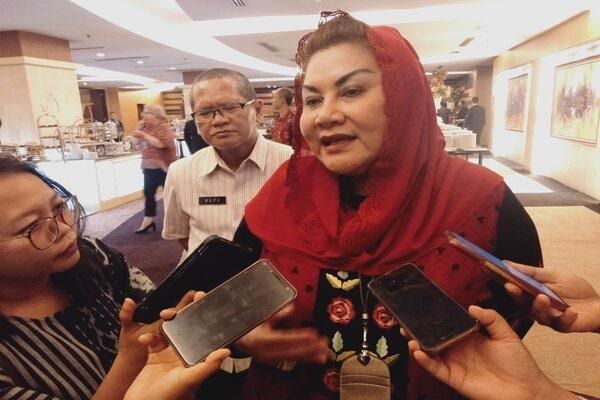 Wakil Wali Kota Semarang Hevearita Gunaryanti Rahayu saat memberikan keterangan kepada wartawan. - Bisnis/Alif Nazzala R.