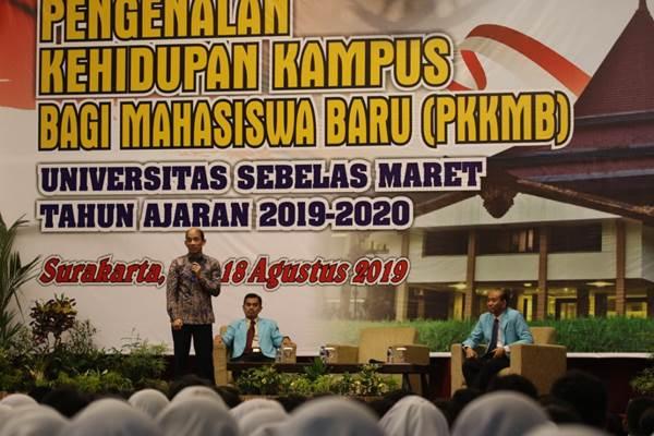 Wamen ESDM Arcandra Tahar saat memberikan kuliah umum di UNS, Surakarta - Istimewa