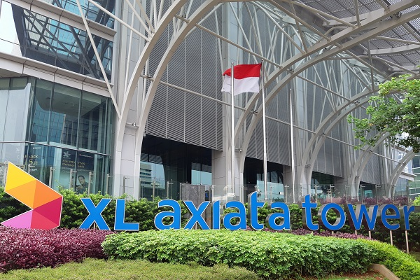 XL Axiata Tower di Jakarta. - Bisnis/Samdysara Saragih