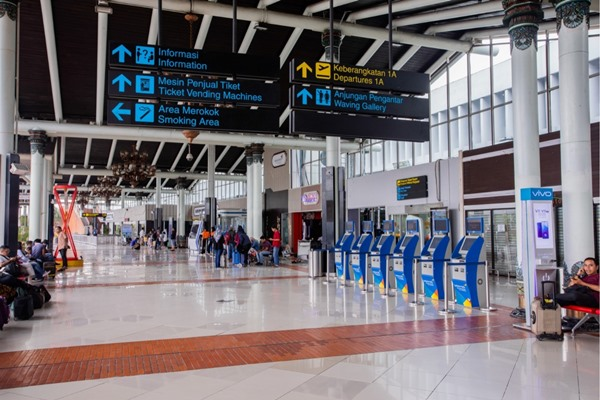 Terminal 2 Domestik Bandara Soekarno-Hatta Cengkareng. BISNIS - PT Angkasa Pura II