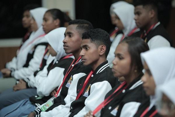 Peserta Program Siswa Mengenal Nusantara asal Maluku tiba di Jakarta (14 - 8). Total sebanyak 23 peserta siap mengikuti serangkaian kegiatan sampai tanggal 23 Agustus 2019 mendatang.
