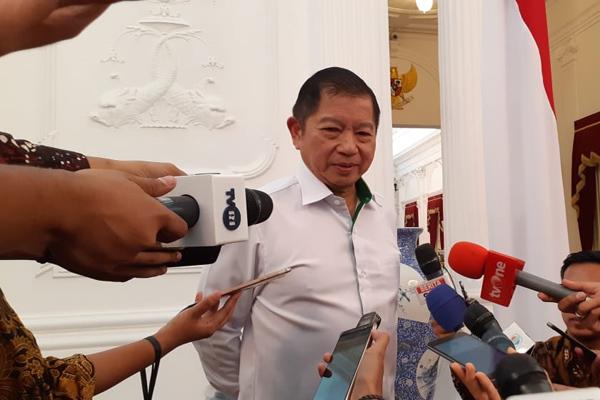 Plt Ketua Umum Partai Persatuan Pembangunan Suharso Monoarfa menemui Presiden Joko Widodo di Istana Merdeka, Selasa 21 Mei 2019. - Bisnis/Amanda Kusumawardhani