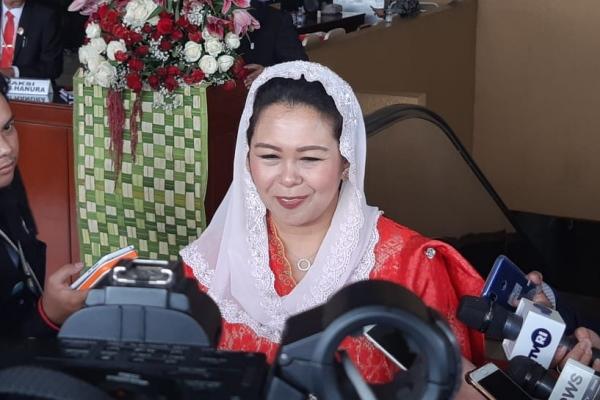 Putri Presiden keempat RI Yenny Wahid di Kompleks Parlemen, Jakarta, Jumat (16/8/2019) - Bisnis/Lalu Rahadian