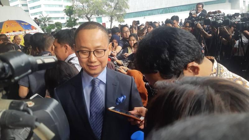 Sekretaris Jenderal Partai Amanat Nasional (PAN) Eddy Soeparno menjawab pertanyaan wartawan terkait keputusan koalisi ke Pemerintahan Joko Widodo-Ma'ruf, Jumat (16/8/2019). - Bisnis/Jaffry Prabu Prakoso