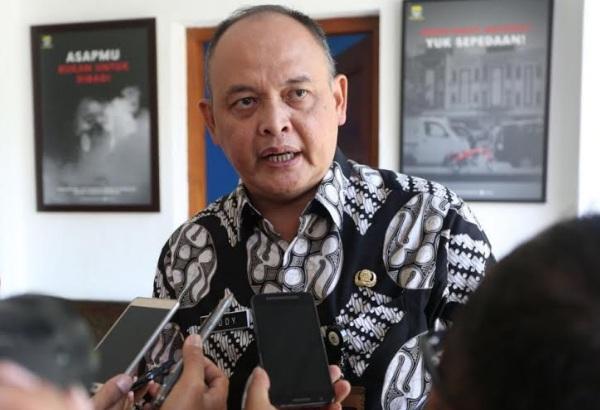 Kepala Dinas Pemuda dan Olahraga (Dispora) Kota Bandung, Eddy Marwoto - Bisnis/Dea Andriyawan