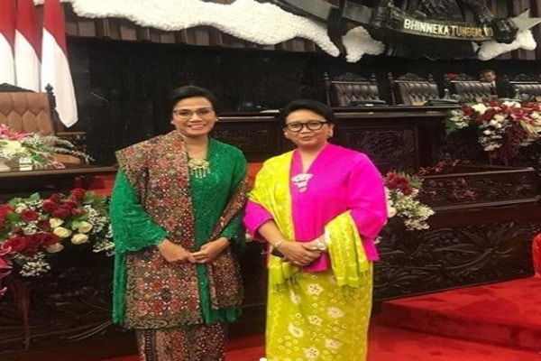 Menkeu Sri Mulyani dan Menlu Retno Marsudi / Instagram
