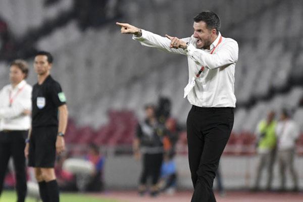 Pelatih Timnas Indonesia Simon McMenemy - Antara/Hafidz Mubarak