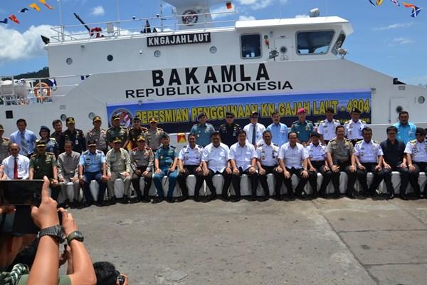 Kapal Negara Gajah Laut 4804, armada patroli yang dimiliki Badan Keamanan Laut (Bakamla) - Bisnis/David Eka I.