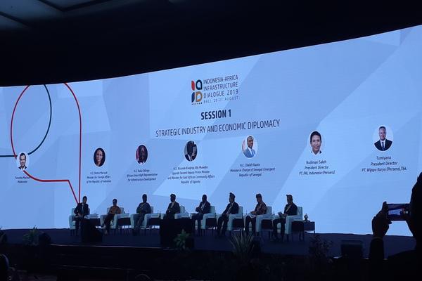 Indonesia-Africa Infrastructure Dialogue (IAID), di Nusa Dua Bali, Selasa (20/9/2019). - Bisnis/Yustinus Andri