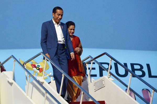 Presiden Joko Widodo (kiri) dan Ibu Negara Iriana Joko Widodo - ANTARA/Wahyu Putro A