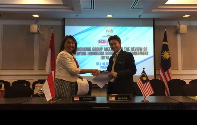 Perundingan putaran ke-6 atas perjanjian perdagangan lintas batas (border trade agreement/BTA) 1970 antara Indonesia dan Malasyai. - Kemendag