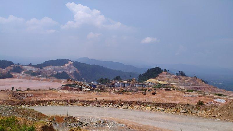 Area pertambangan emas PT Agincourt Resources di Batangtoru, Tapanuli Selatan. Perusahaan tersebut menganggarkan US25 juta untuk eksplorasi pada tahun ini. - Bisnis/Lucky Leonard