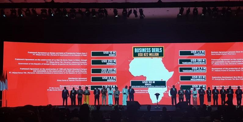 IAID menghasilkan 20 kesepakatan bisnis antara 11 pihak dengan total nilai US822 juta. - Bisnis.com / Oktaviano DB Hana