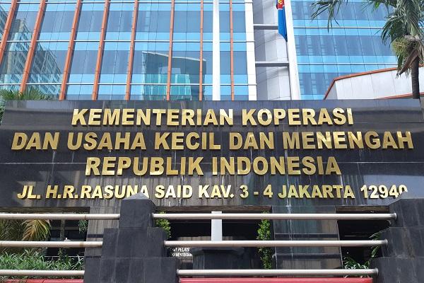 Gedung Kementerian Koperasi dan Usaha Kecil dan Menengah RI di Jakarta. - Bisnis/Samdysara Saragih