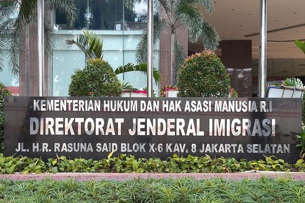 Gedung Direktorat Jenderal Imigrasi Kemenkumham di Jakarta. -Bisnis.com - Samdysara Saragih