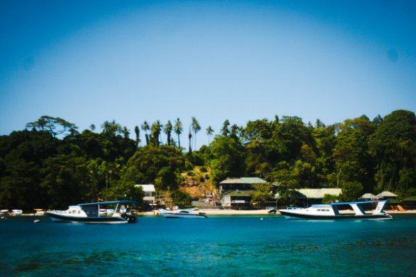 Destinasi wisata Bunaken di Sulawesi Utara. - Bisnis/Lukas Hendra T.M.