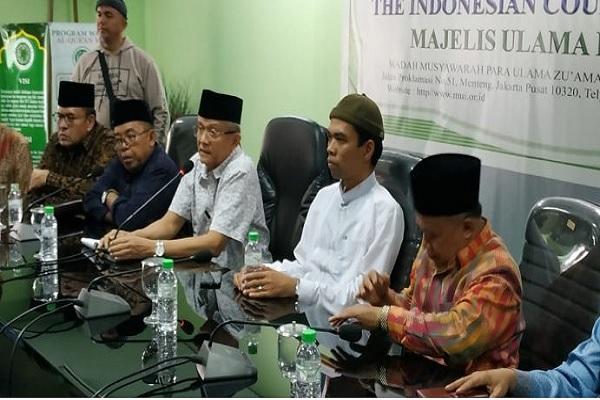 Ustaz Abdul Somad memenuhi undangan Majelis Ulama Idonesia (MUI) untuk mengklarifikasi video berisi ceramah yang diduga menista agama Kristen - mui.or.id