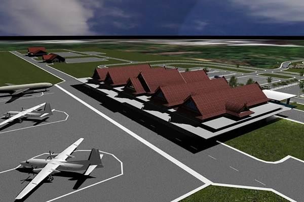 Maket Bandara Buntu Kunik di Tanah Toraja, Sulawesi Selatan. - Istimewa
