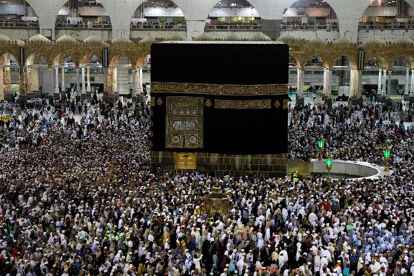 Pelaksanaan ibadah haji 2019 di Masjidil Haram, Makkah. - Reuters/Umit Bektas