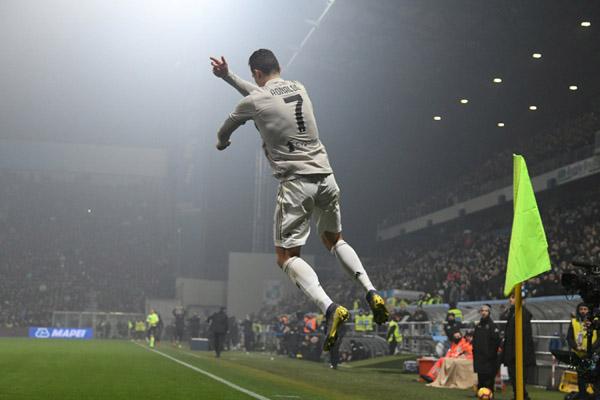 Striker Juventus Cristiano Ronaldo - Reuters/Alberto Lingria