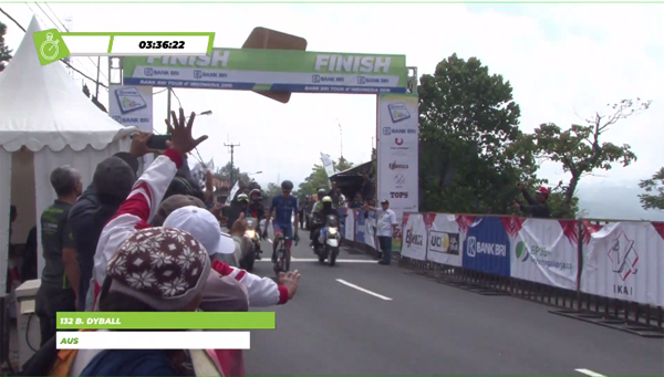 Benjamin Dyball finish terdepan di Etape 5 Tour de Indonesia 2019