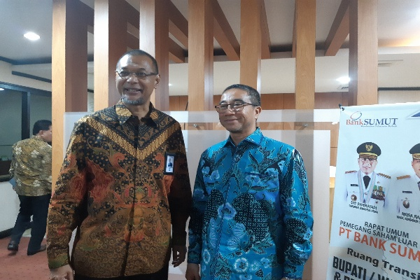 Muchammad Budi Utomo dan Gubernur Sumut - Asteria Desi Kartika Sari